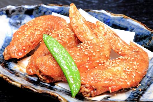 地鶏手羽先甘辛パリパリ揚げ
